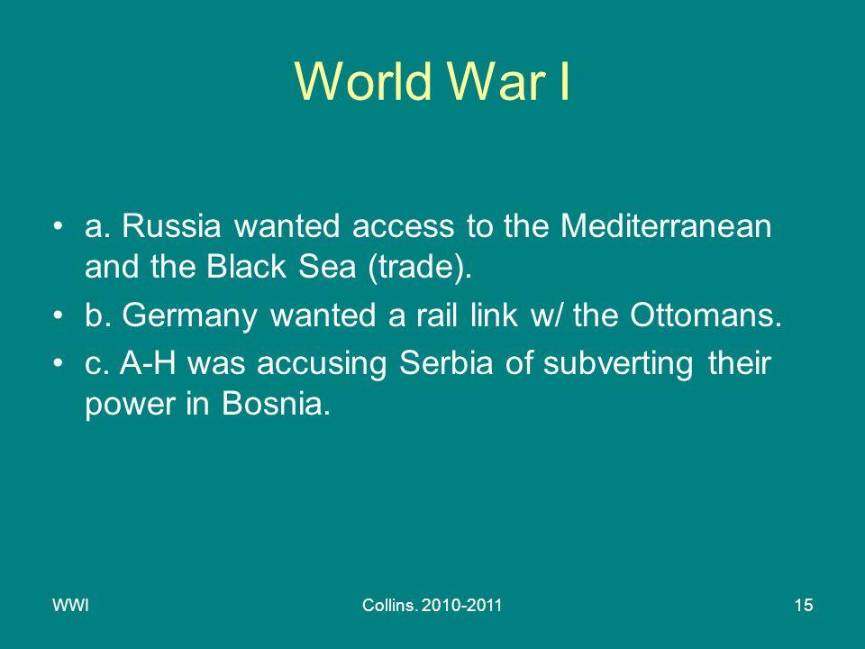 WWICollins. 2010-201115 World War I a.