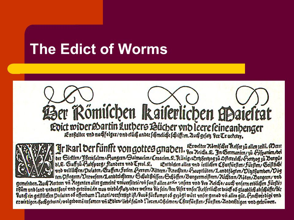 The Edict of Worms