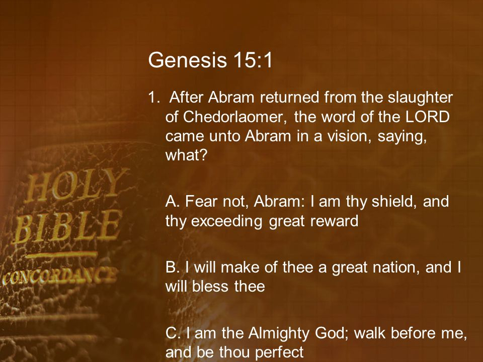 Genesis 15:14 21.How will Abram's seed come out of the land where they were a stranger.