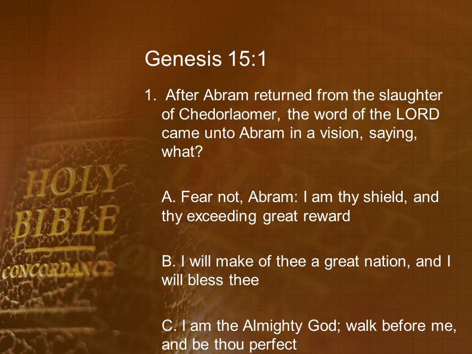 Genesis 15:8 11.