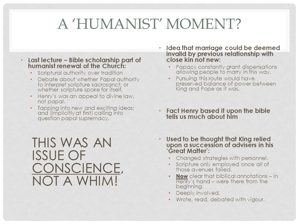 A 'HUMANIST' MOMENT.