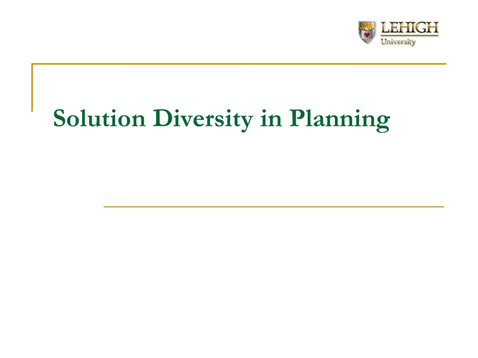 Solution Diversity in Planning