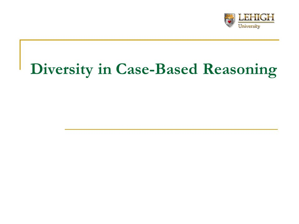 Diversity in Case-Based Reasoning