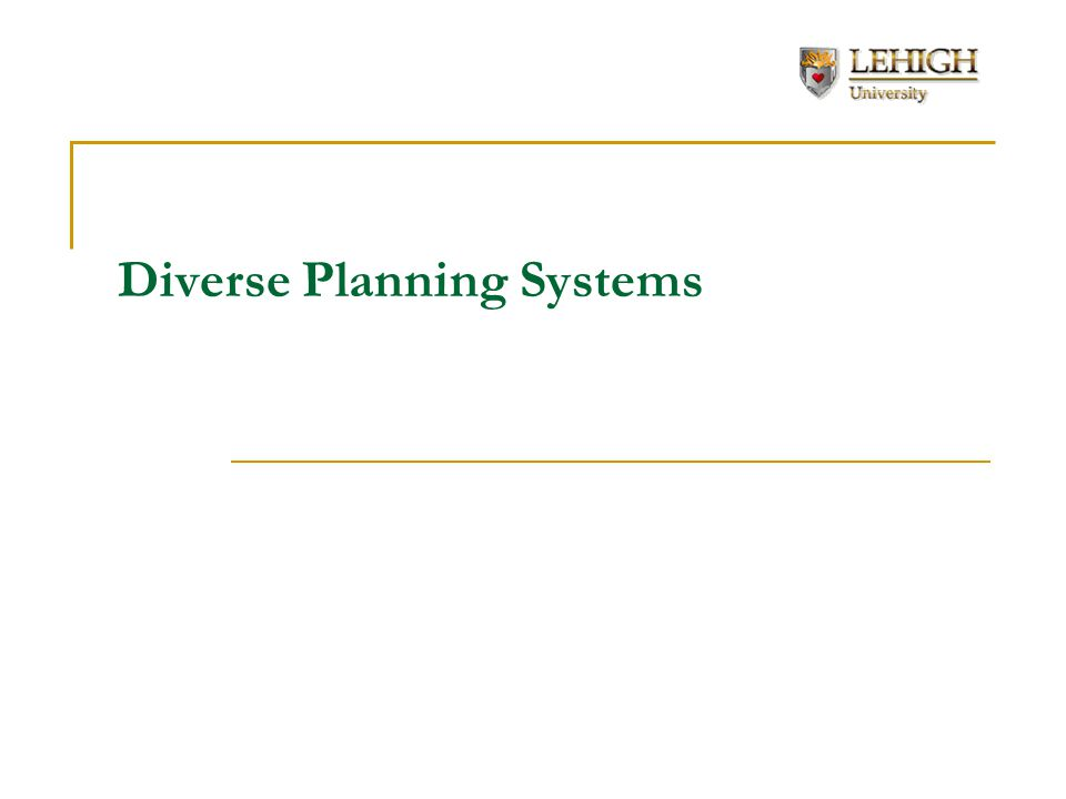 Diverse Planning Systems