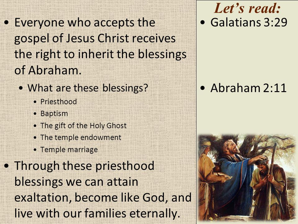 When will all these promises to Abraham be fulfilled? Abraham had to wait many years before the blessings came, and the promises are still being fulfi