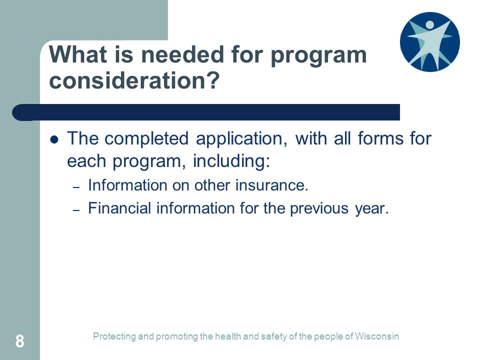 What is needed for program consideration.