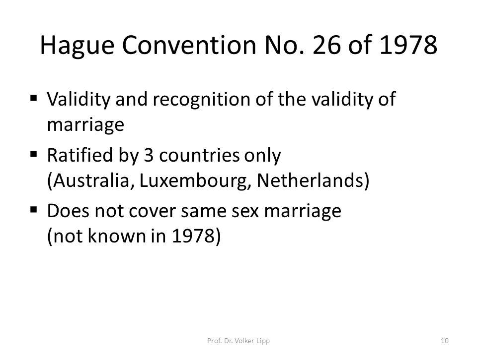 Hague Convention No.