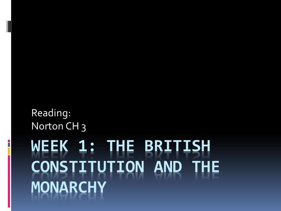 Reading: Norton CH 3