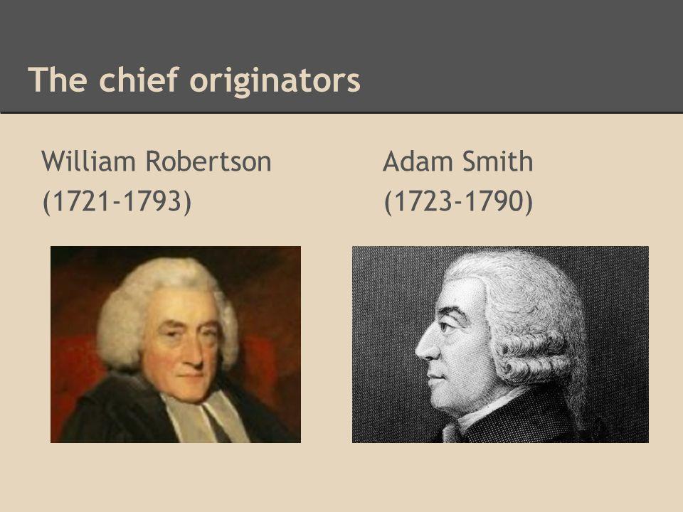 The chief originators William RobertsonAdam Smith (1721-1793)(1723-1790)