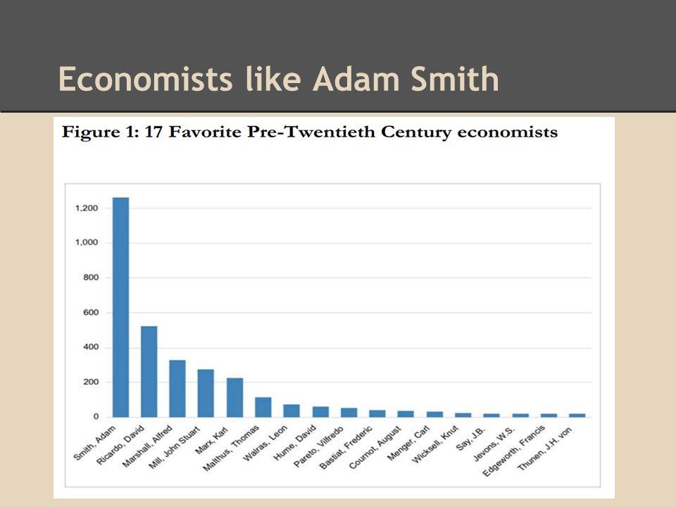 Economists like Adam Smith