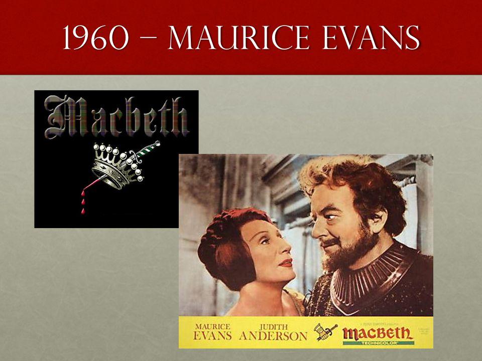 1960 – Maurice evans