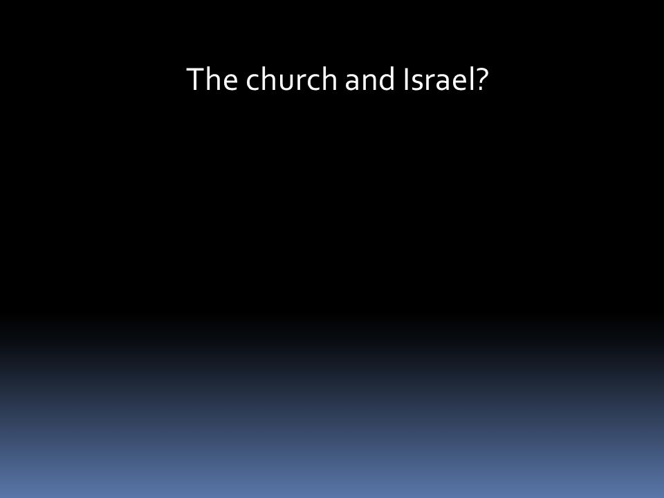 The church and Israel