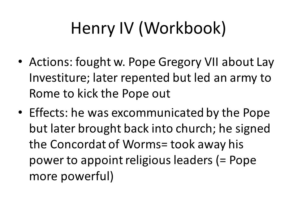 Henry IV (Workbook) Actions: fought w.