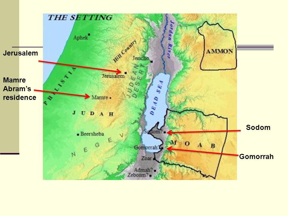Sodom Gomorrah Jerusalem Mamre Abram's residence
