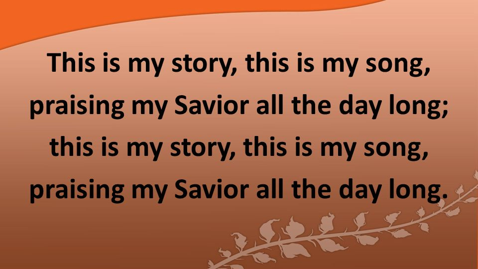 Perfect submission, all is at rest; I in my Savior am happy and blest, watching and waiting, looking above, filled with his goodness, lost in his love.