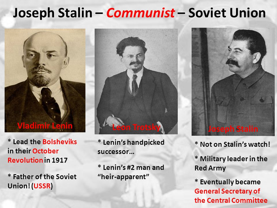 Joseph Stalin – Communist – Soviet Union From each according to his ability, to each according to his need. – Karl Marx * What does the Marx quote mean.