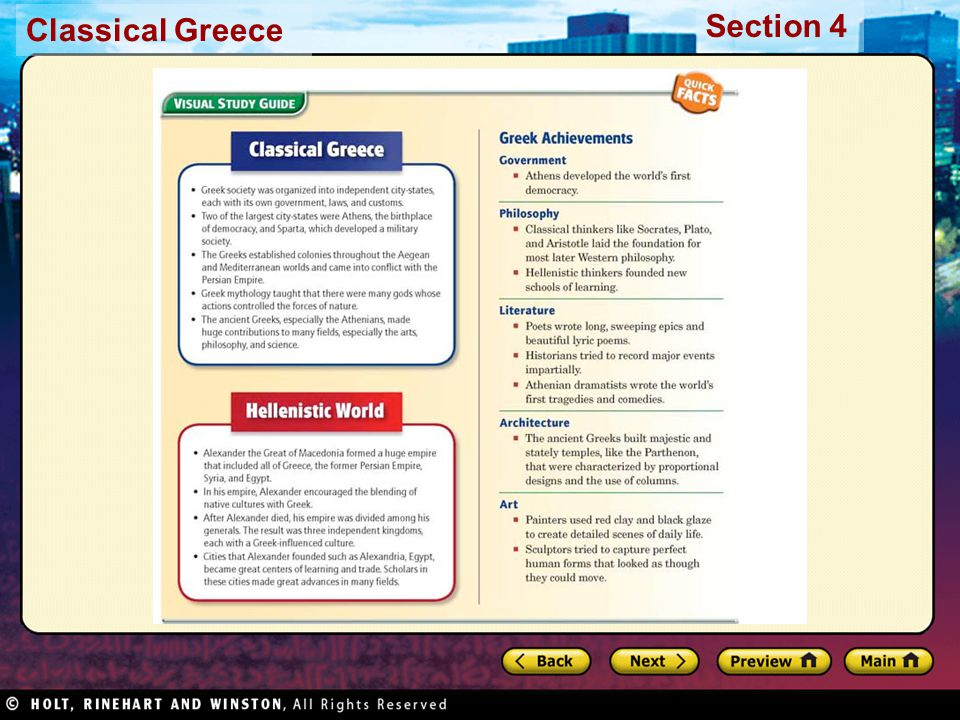 Classical Greece Section 4