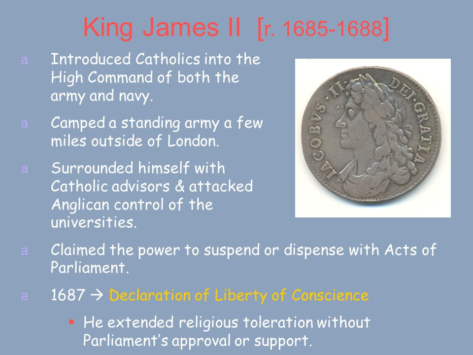 King James II [ r.