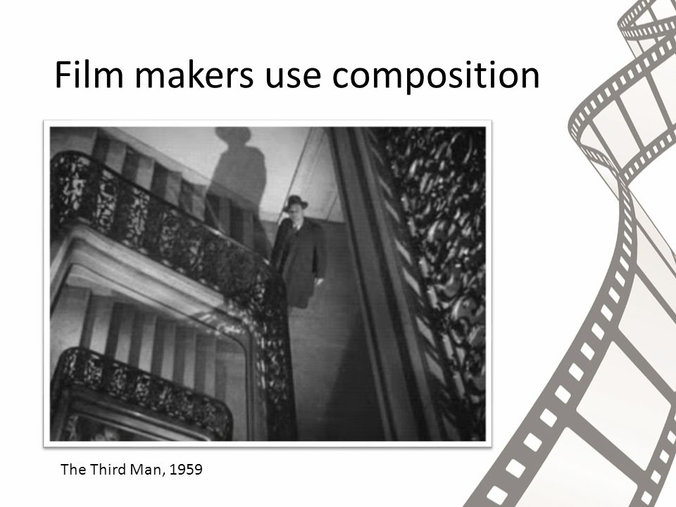 Film makers use composition The Third Man, 1959