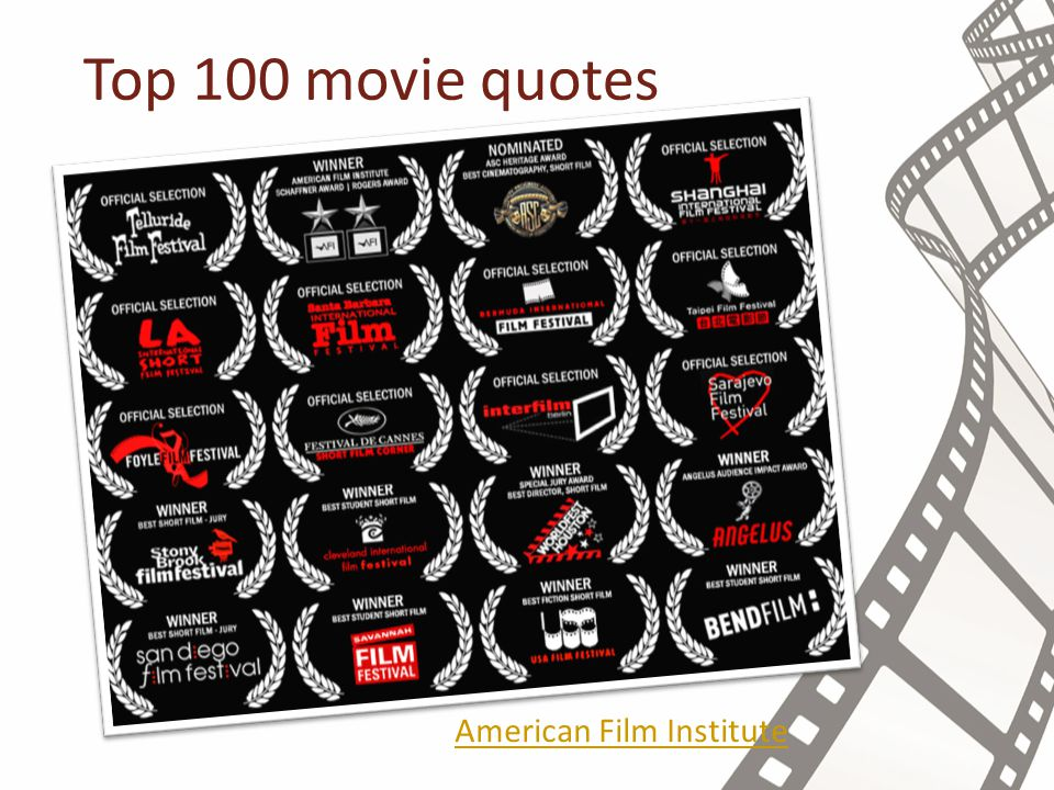 Top 100 movie quotes American Film Institute