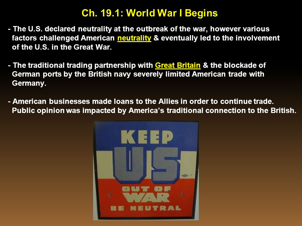 Today's Lesson Standard / Indicator Standard USHC-5: The student will demonstrate an understanding of domestic & foreign developments that contributed to the emergence of the United States as a world power in the 20 th century.