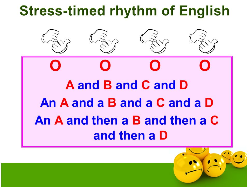 OOOO A and B and C and D An A and a B and a C and a D An A and then a B and then a C and then a D
