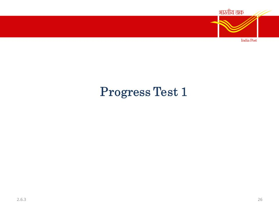 Progress Test 1 262.6.3