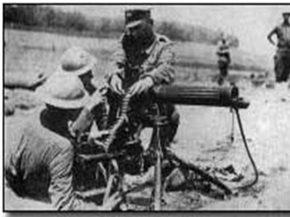 Stalemate Earlier wars were fought with a cavalry Modern weapons made the cavalry useless New weapons - guns, grenades, artillery shells, poison gas,