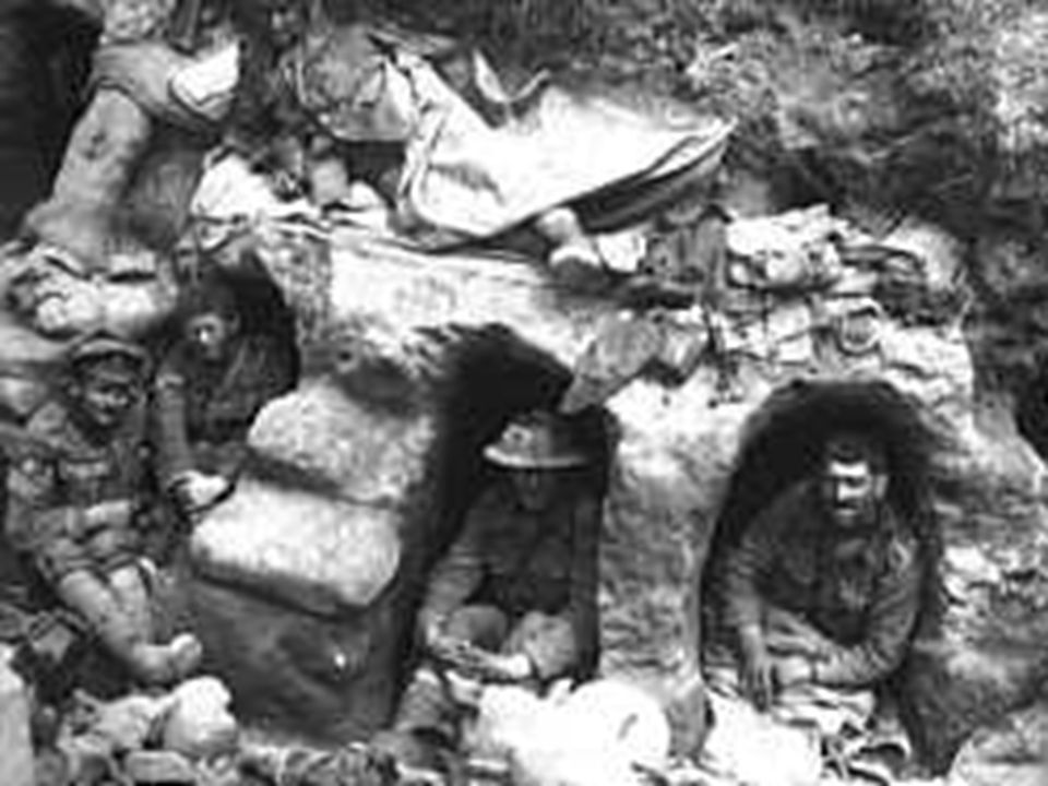 Modern weapons made the trenches a grim reality
