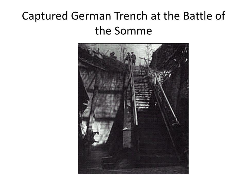German Trench near the Hindenburg Line