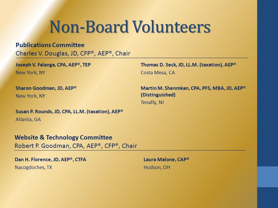 Non-Board Volunteers Joseph V.
