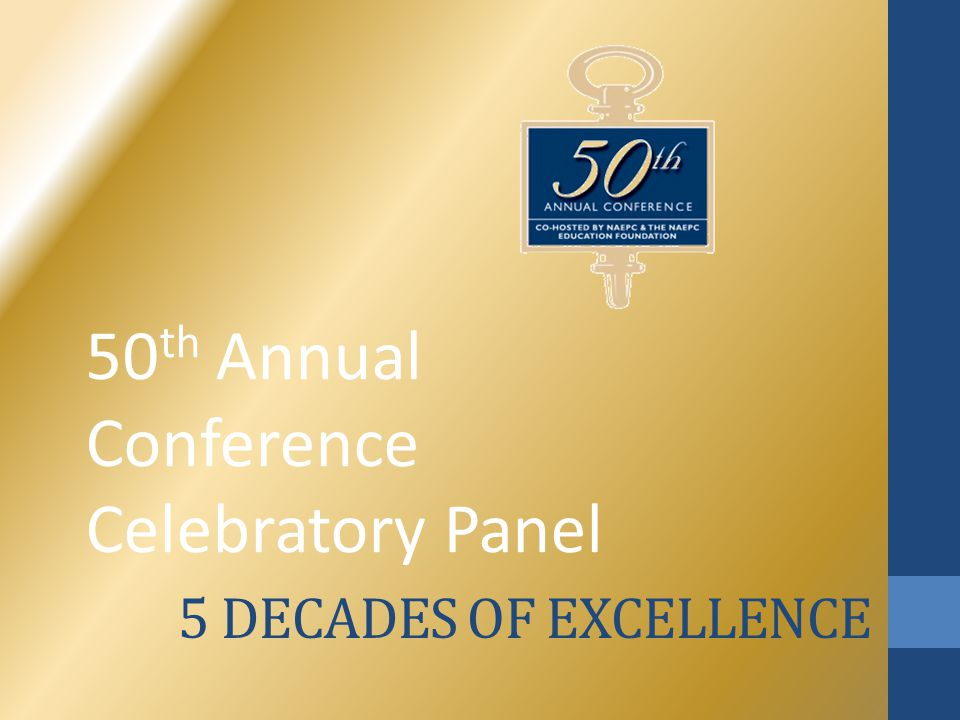 5 DECADES OF EXCELLENCE 50 th Annual Conference Celebratory Panel