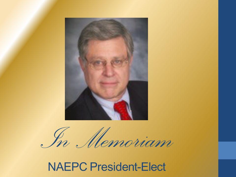 In Memoriam NAEPC President-Elect