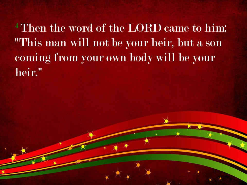 4 Then the word of the LORD came to him: