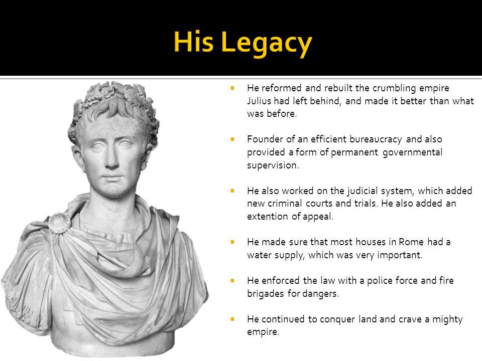 Pictures of Augustus:  Title Slide (Left): (Augustus.