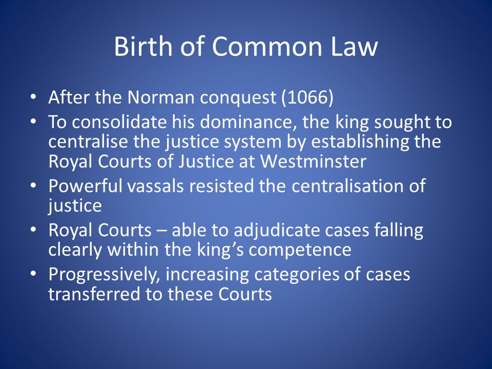 Dominance of Law Latin The Norman Conquest brought to England a French-speaking upper class Latin – dominant in law Normans – used Latin in important contexts 11-12 c.