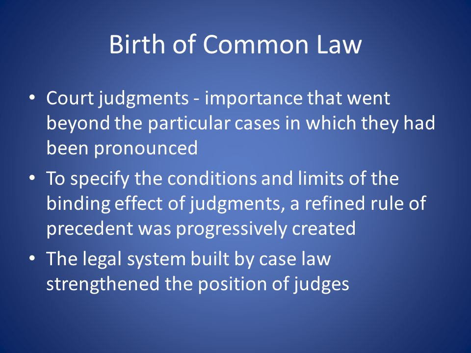 Dominance of Law Latin In this period – common law was created Many essential common law terms were originally formulated in Latin (e.g.