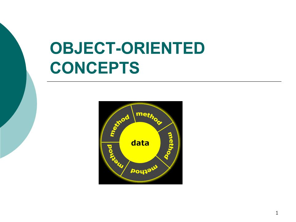 1 OBJECT-ORIENTED CONCEPTS