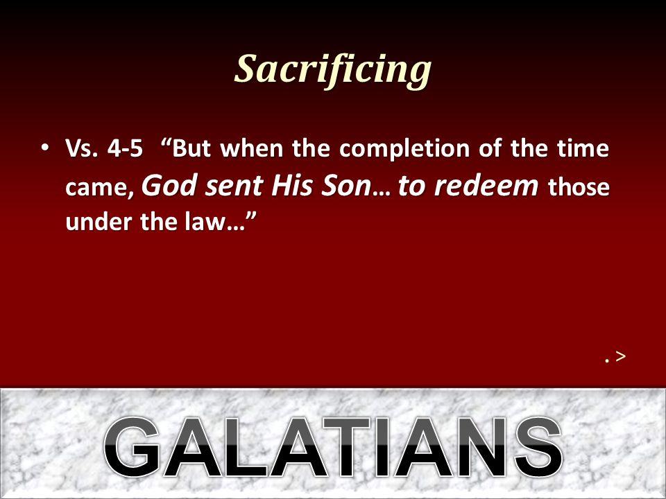 Sacrificing Vs.