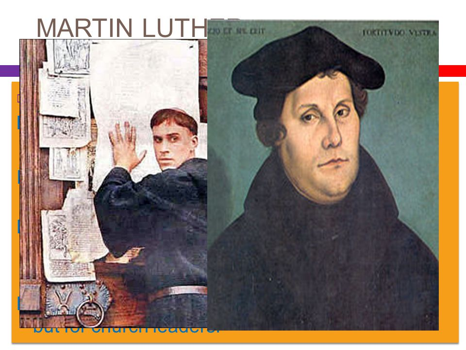 MARTIN LUTHER  95 THESES Luther thought selling of indulgences was sinful. In his theses, he denied that indulgences had ANY power to remit sin. He a