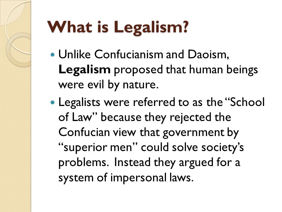What is Legalism.