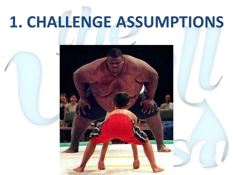 1. CHALLENGE ASSUMPTIONS
