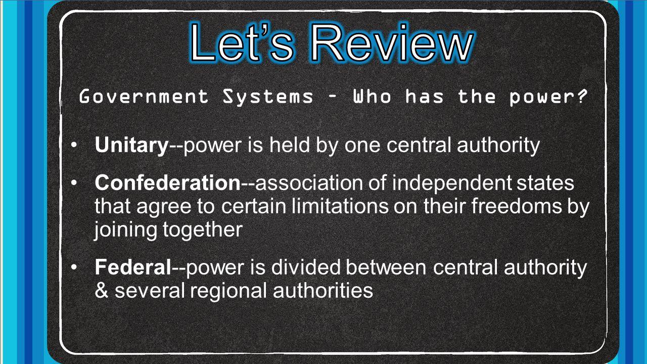 Government Types – how do citizens participate.