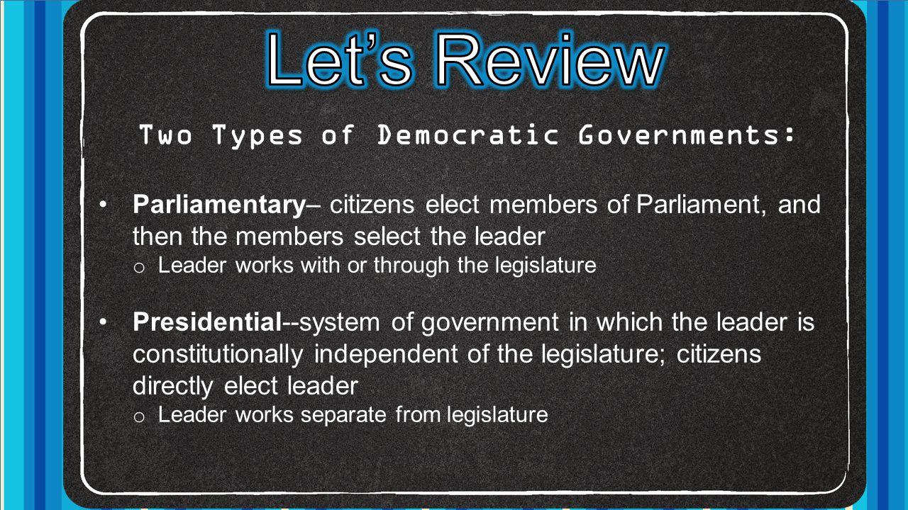 Federal Parliamentary Democracy