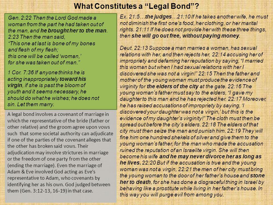 What Constitutes a Legal Bond . Gen.