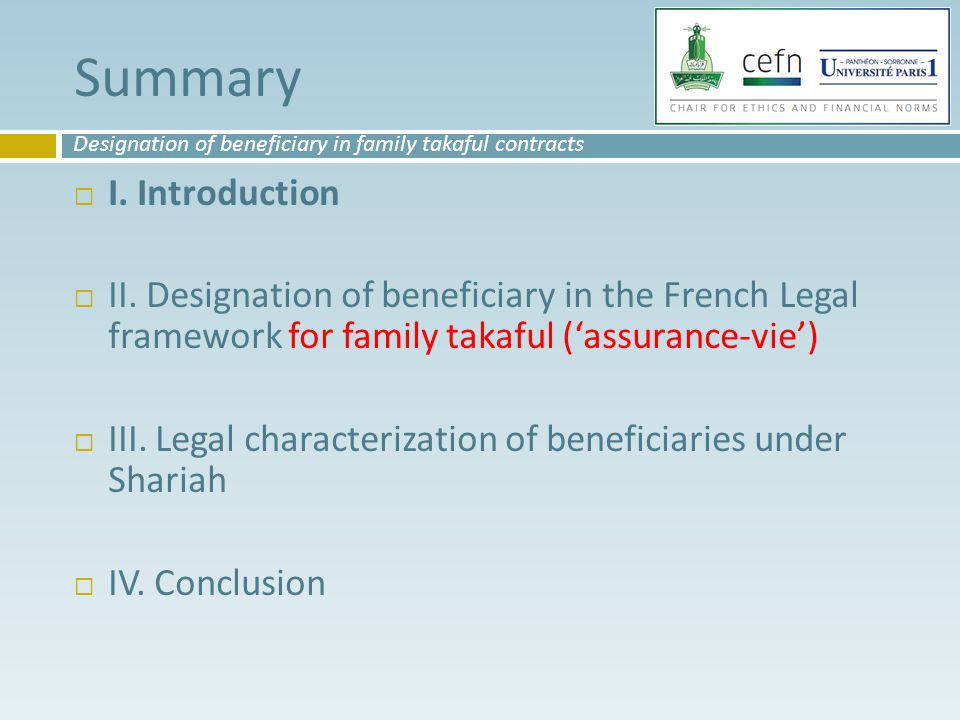 Summary  I. Introduction  II.