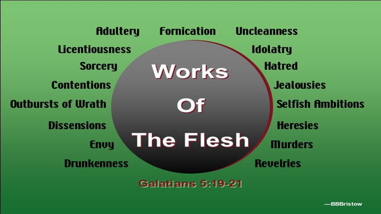 Jesus says in John 3:6, That which is born of the flesh is flesh; and that which is born of the Spirit is spirit .