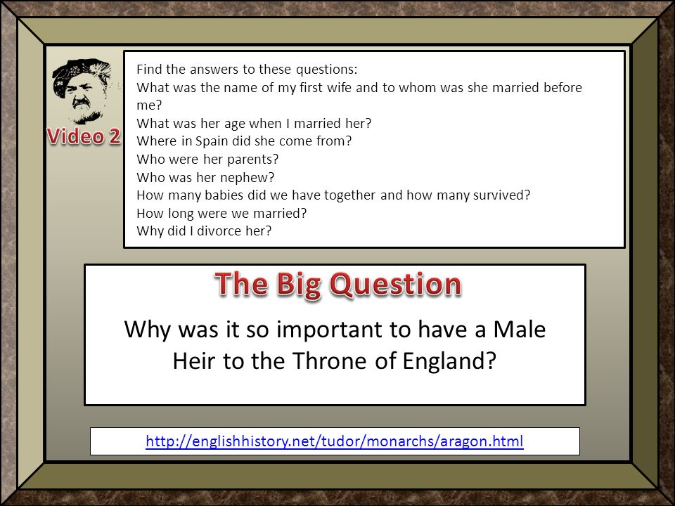 http://englishhistory.net/tudor/monarchs/aragon.html Find the answers to these questions: What was the name of my first wife and to whom was she married before me.