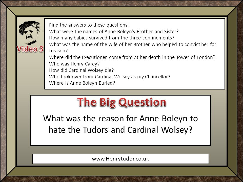 www.Henrytudor.co.uk Find the answers to these questions: What were the names of Anne Boleyn's Brother and Sister.
