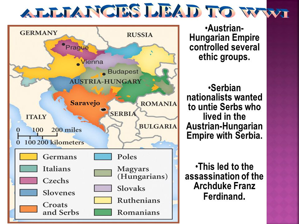 Austrian- Hungarian Empire controlled several ethic groups.
